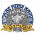 Picture of 10K Yellow Gold AAOHN Fellows Pin with a Pin Back